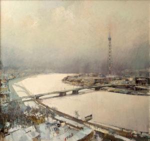 «Нева в снегу», Ляпин Роман