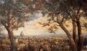 «Панорама Рима с холма Джаниколо», Ляпин Роман